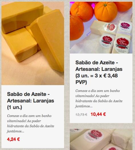 Sabão laranjas loja